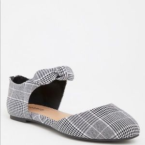 Torrid Multi Plaid Faux Suede Knotted Bow Flat